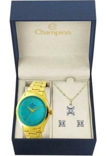 Relógio Champion Cn27723Y Feminino - Feminino-Dourado