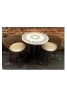 Conjunto De Mesa Bege E Cadeira Sacada