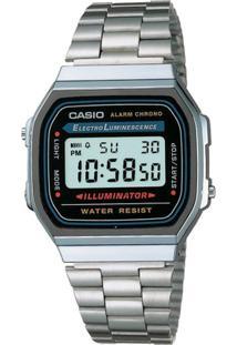 2194e09b8ac ... Relógio Feminino Casio Vintage Digital Fashion A168Wa 1Wdf -  Unissex-Prata