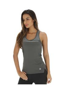 Camiseta Regata Asics Liteshow Tank - Feminina - Cinza Escuro