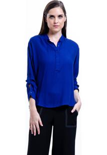 Camisa 101 Resort Wear Viscose Polo Azul