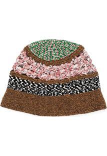 Missoni Chapéu Bucket De Tricô E Crochê - Marrom