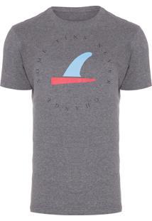 Camiseta Masculina Some Fins - Cinza