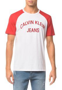 Camiseta Ckj Mc Est Logo Curva - Vermelho - P