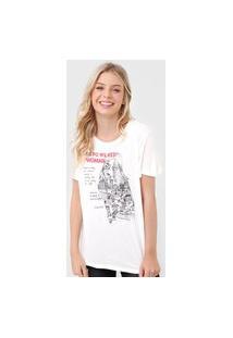 Camiseta Colcci Woman Off-White