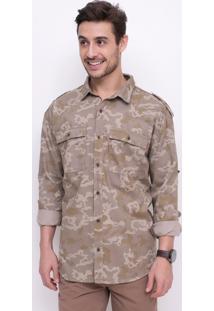 Camisa Camuflada Em Sarja