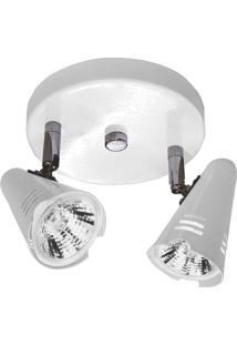 Spot Base Lince Aço Regulável Base Mr16 2 Lâmpadas Max 50W Branco