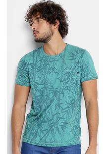 Camiseta Coca-Cola Full Print Folhagem Bolso Masculina - Masculino