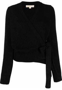 Michael Michael Kors Tie-Side Knitted Cardigan - Preto