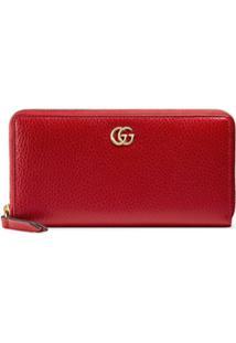 25dd923f9 R$ 2180,00. Farfetch Carteira Tipo Couro De Grife Zíper Feminina Kj Gucci  Vermelha U2 ...