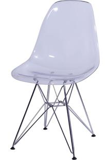 Cadeira Eames Dkr Or-1101Pc C/ Pés Cromados – Or Design - Incolor