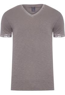 Camiseta Masculina Metalizada - Cinza