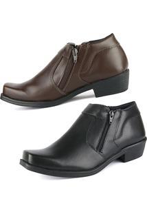Bota Casual Cr Shoes Clássico Preto Café