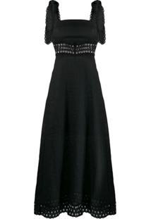 Zimmermann Vestido Longo Com Detalhe De Crochê - Preto