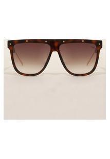 Óculos De Sol Feminino Quadrado Yessica Tartaruga