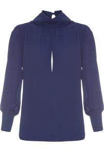Blusa Feminina Chiffon - Azul