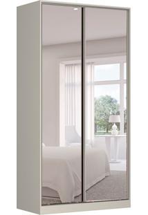 Guarda-Roupa Solteiro Com Espelho Tunas Viii 2 Pt 3 Gv Branco