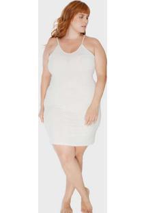 Vestido Tubinho Segunda Pele Off White Plus Size O