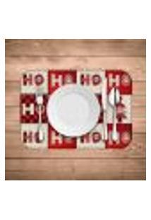 Jogo Americano Wevans Ho Ho Ho Kit Com 4 Pçs