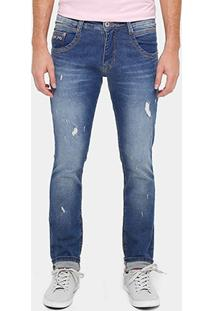 Calça Jeans Skinny Biotipo Puídos Masculina - Masculino