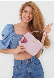 Bolsa Santa Lolla Chaveiro Coração Rosa