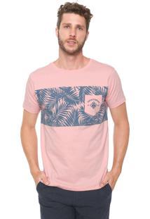 Camiseta Yacht Master Folhagens Rosa