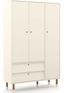 Roupeiro 3 Portas Up Off White/Eco Wood Matic Móveis