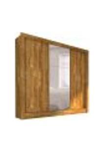 Guarda-Roupa Casal Com Espelho Bahia Iii Flex Color 3 Pt Ipe Rustic E Off White