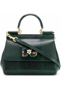 Dolce & Gabbana Bolsa Tote Sicily Mini - Verde