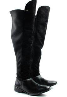 Bota Over The Knee Feminina F421 Preto 34