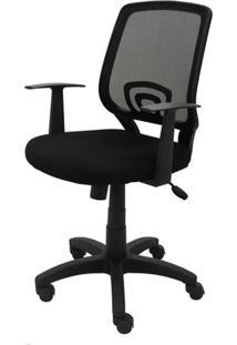 Cadeira Office Avila Preta Base Em Nylon - 20816