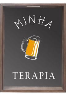 Quadro Porta Rolhas E Tampinhas Vini Madeira