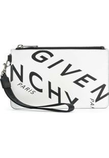 Givenchy Clutch Com Estampa De Logo Givenchy Refracted - Branco