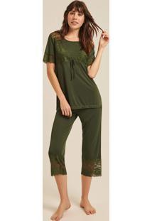 Pijama Joge Longo Verde Oliva