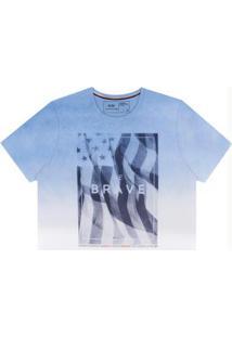 Camiseta Estampada Em Malha Branco Hangar 33