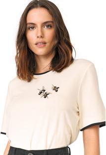 Camiseta My Favorite Thing(S) Bordada Off-White - Kanui