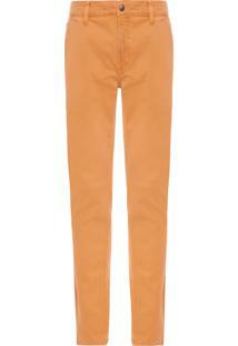 Calça Masculina Color Chino Skinny - Marrom