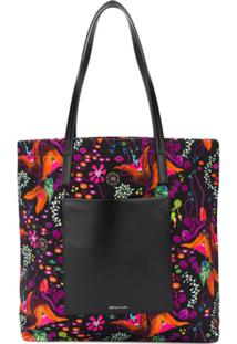 Ps Paul Smith Bolsa Tiracolo Com Estampa Earthling Floral - Preto
