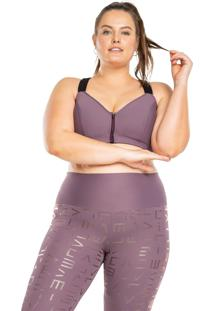 Top Neo Halter Dots Plus Size - Roxo - Live! - Kanui