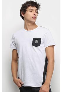 Camiseta Polo Rg 518 Recortes Laterais Bolso Masculina - Masculino