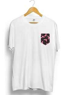 Camiseta Bsc Arm Pink Pocket - Masculino-Branco
