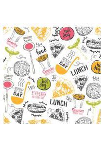Papel De Parede Cozinha Colorido Fast Food 57X270Cm