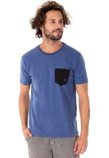 Camiseta Side Walk Camiseta Bolso Canguru Azul Marinho
