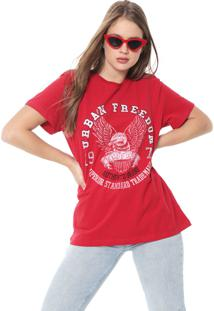 Camiseta Triton Estampada Vermelha