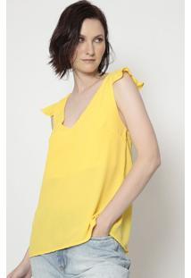 Blusa Com Babados- Amarela- Moisellemoisele