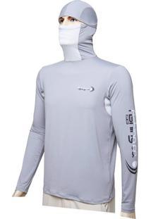 Camiseta Dryfit Ninja Fishing Co. Cinza Ufp 50+ Ref. 1022