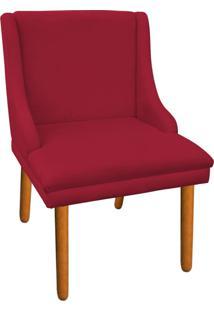 Cadeira Poltrona Decorativa Liz Suede Vermelho - D'Rossi