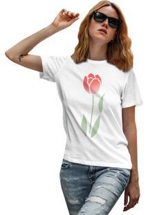 Camiseta Basica My T-Shirt Rose Degrade Branco - Kanui