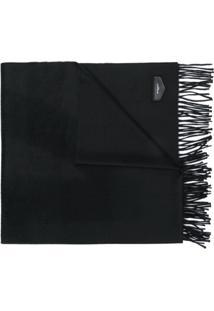 Givenchy Cachecol Com Logo E Tassel De Cashmere - Preto
