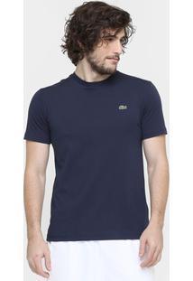 Camiseta Lacoste Gola Careca - Masculino-Marinho